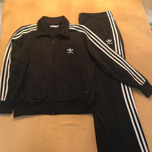 Adidas 3-stripes Tricot Track Suit Women's XL B/W